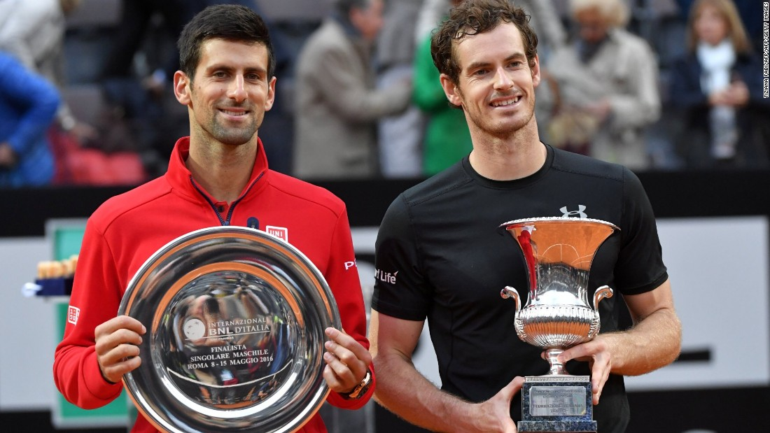 He won his first title of 2016 at the Italian Open in Rome, downing Djokovic in the final to lift the trophy without conceding a set.