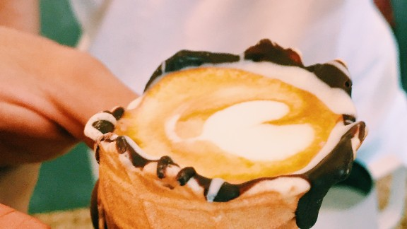 "Artwork on the Coffee In a Cone is part of Dayne Levinrad's effort to bring the ""third wave"" coffee movement to Johannesburg."
