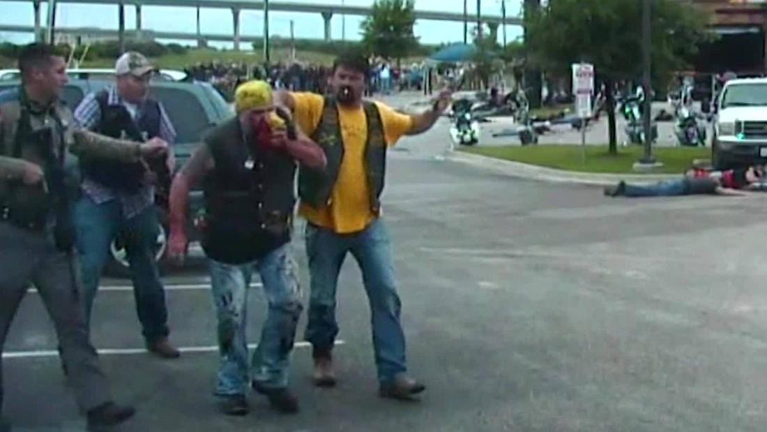 Waco biker shootout caught on camera - CNN Video