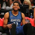 Karl-Anthony Towns nba rookie of th year closeup