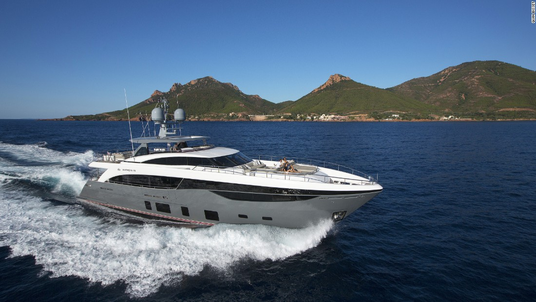 "Judges said the 35.2m semi-custom yacht from UK builder Princess triumphed due to an exterior design ""which incorporates a variety of functional areas in which to relax and dine, as well as her contemporary yet ageless interior."""