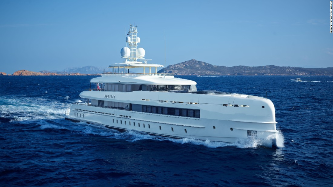 Another Dutch entry, Heesen's 49.9m Sibelle was noted for its good fuel economy and higher top speed, and a pair of spray rails wrapping the bow.