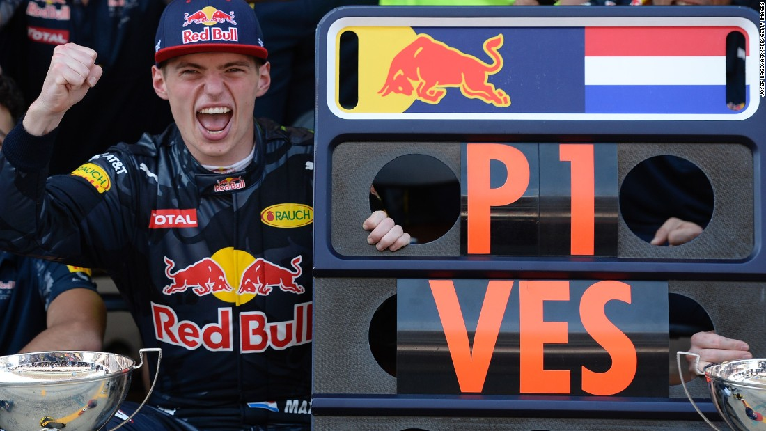 As the son of former driver Jos Verstappen, he is also the first Dutch driver to win an F1 race. Verstappen was born in Belgium to a Belgian Mom but races under the Netherlands flag.