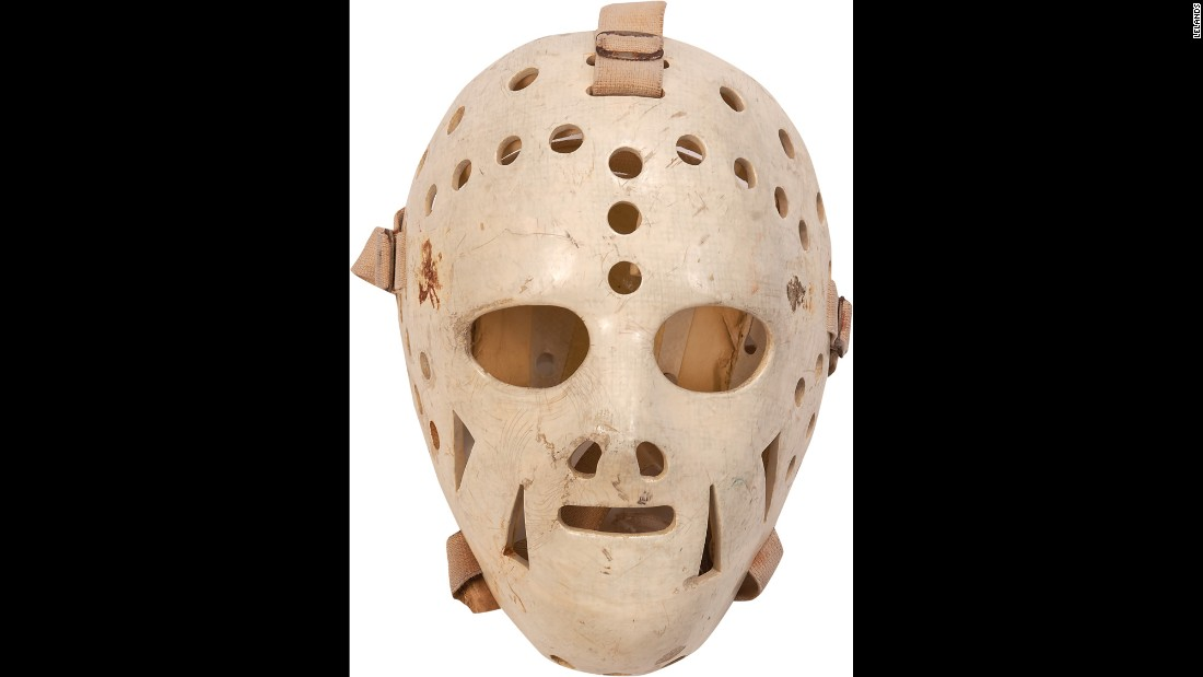 After the Olympics, Craig, whose parents were Irish, removed the shamrock stickers from his mask, but it's still evident where they were. There is some wear on the mask and plenty of scuff marks.