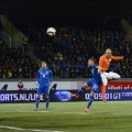 Ari Freyr Skulason and Arjen Robben iceland football