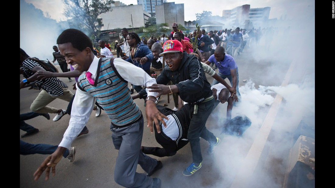 """It's one thing for such violence to occur in actively ongoing clashes, but another when that level of violence is meted out on people running away or lying on the ground -- as was the case with the man beaten and kicked repeatedly by a riot policeman while collapsed in the street,"" Curtis said."