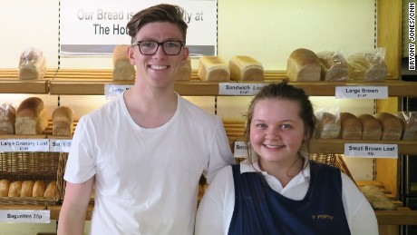 "Bakery assistants Ryan Davies and Leah Jenkyns both say they support the ""remain"" campaign."