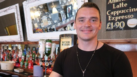 "Barman AJ Forsythe says he doesn't support the EU: ""The amount of money we put into it is ridiculous."""