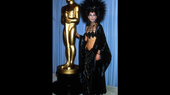 """Cher attends the Academy Awards in 1986. In 1988, she won the best actress Oscar for her role in """"Moonstruck."""" Other films she has starred in include """"Mask,"""" """"Silkwood"""" and """"The Witches of Eastwick."""""""