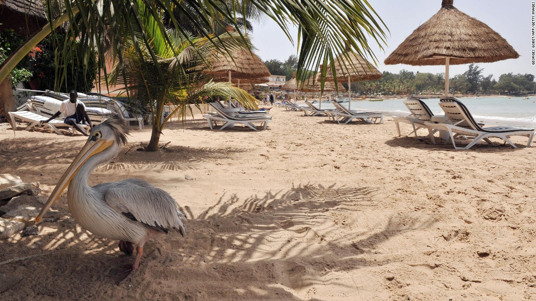 About an hour and a half from Dakar, the resort town of Saly draws sunseekers to its beautiful shores.