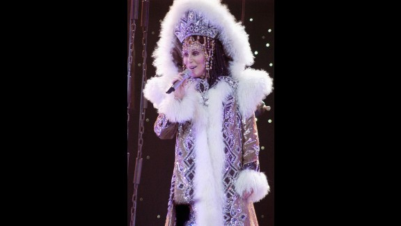 """Cher performs in 2005 during """"Living Proof: The Farewell Tour."""""""