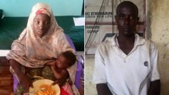 Amina Ali, was found Wednesday with a baby and Mohammed Hayatu, who said he was her husband.