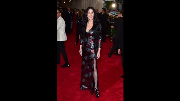 Cher attends the Met Gala in New York in 2015.