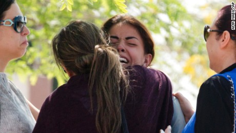 Distraught relatives of EgyptAir MS804 passengers await news