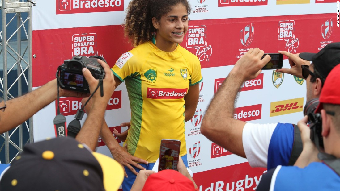 "In the favela from which she hails, she has become known as the ""lioness of the Olympics"" and a role model for young girls. However, the teenager missed out on selection for the Games."