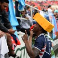 Carlin Isles cheese hat