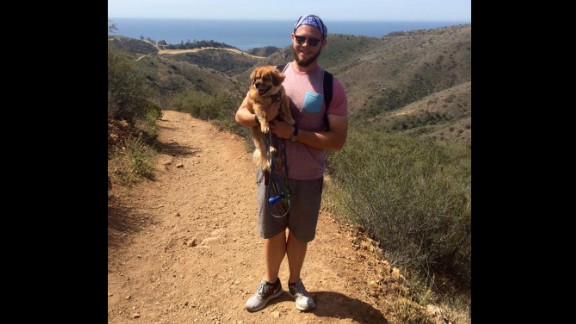 Harmon currently weighs 218 pounds and plans to continue with his healthy lifestyle change, which could mean losing more weight. Walking his dog, Charlie, has also helped keep Harmon active. They visited Solstice Canyon in Malibu in April.