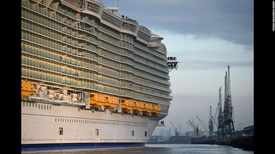 "The world's biggest cruise ship, <a href=""http://www.cnn.com/2016/05/19/travel/harmony-of-the-seas-worlds-biggest-cruise-ship/"" target=""_blank"">the Harmony of the Seas,</a> arrives in Southampton, England, on Tuesday, May 17. <a href=""http://www.cnn.com/2016/05/13/world/gallery/week-in-photos-0513/index.html"" target=""_blank"">See last week in 36 photos</a>"