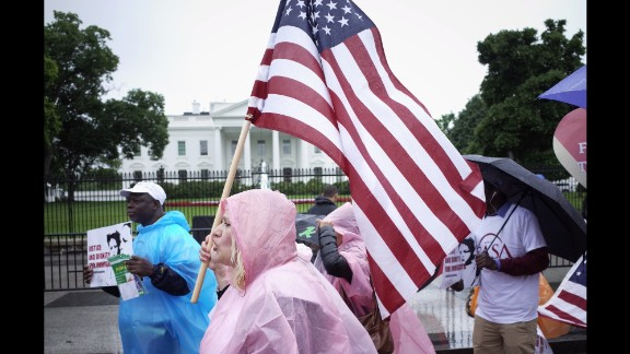 Activists rally for immigration rights in front of the White House on Tuesday, May 17.