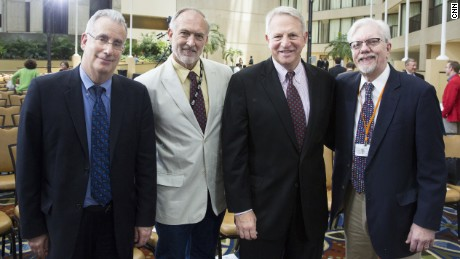 At the CNN35 celebration in 2015. Pictured left to right: Richard Roth, Dave Rust, Rick Davis, Will King