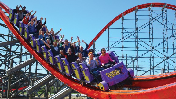 The new Storm Chaser coaster at Kentucky Kingdom, which stopped being a Six Flags park in 2010, has 12 airtime moments, three inversions and more.
