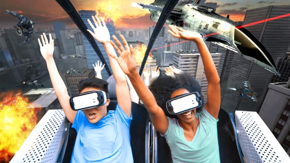 Riders get to engage in a battle to save the planet from alien invaders as the Steamin' Demon coaster adds virtual reality at Six Flags Great Escape in upstate New York.