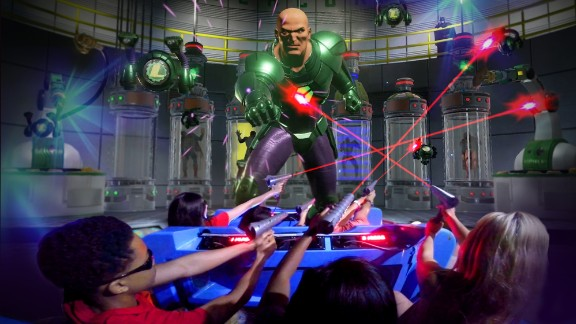 The Justice League has a reserve team, and riders are part of the battle in Justice League: Battle for Metropolis, a new 4-D virtual-reality coaster at Six Flags Great America outside Chicago.