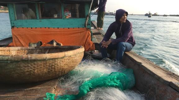 Le Tan is a Vietnamese fisherman