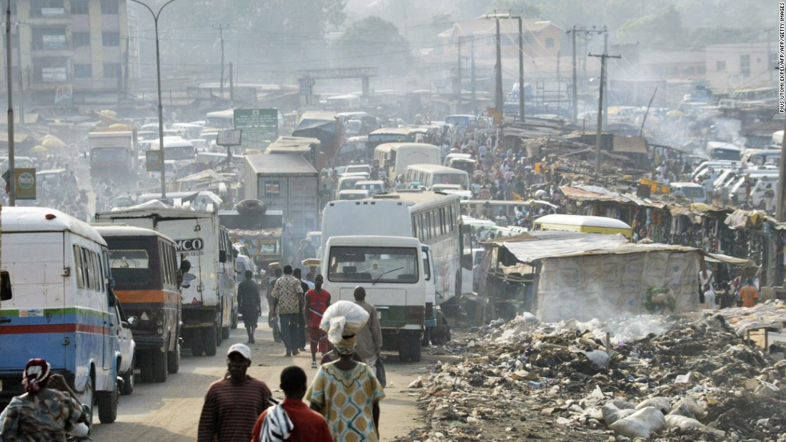 The booming port city in southern Nigeria, recorded 30 times more than the WHO's recommended levels of particulate matter concentration.