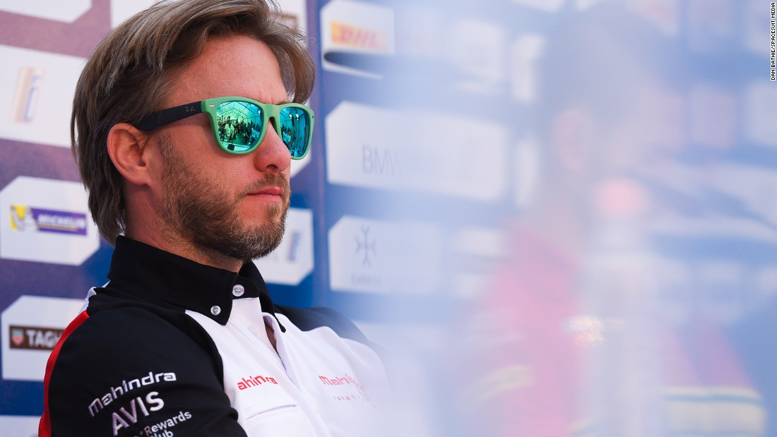 Mahindra Racing's Nick Heidfeld relaxing at the circuit on Friday.