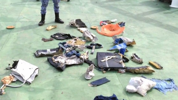 Egyptian armed forces release video and images of debris, including personal belongings, believed to be from EgyptAir Flight 804 on Saturday, May 21. The Airbus A320 vanished from radar over the Mediterranean Sea while en route from Paris to Cairo on Thursday, May 19, with 66 people aboard.