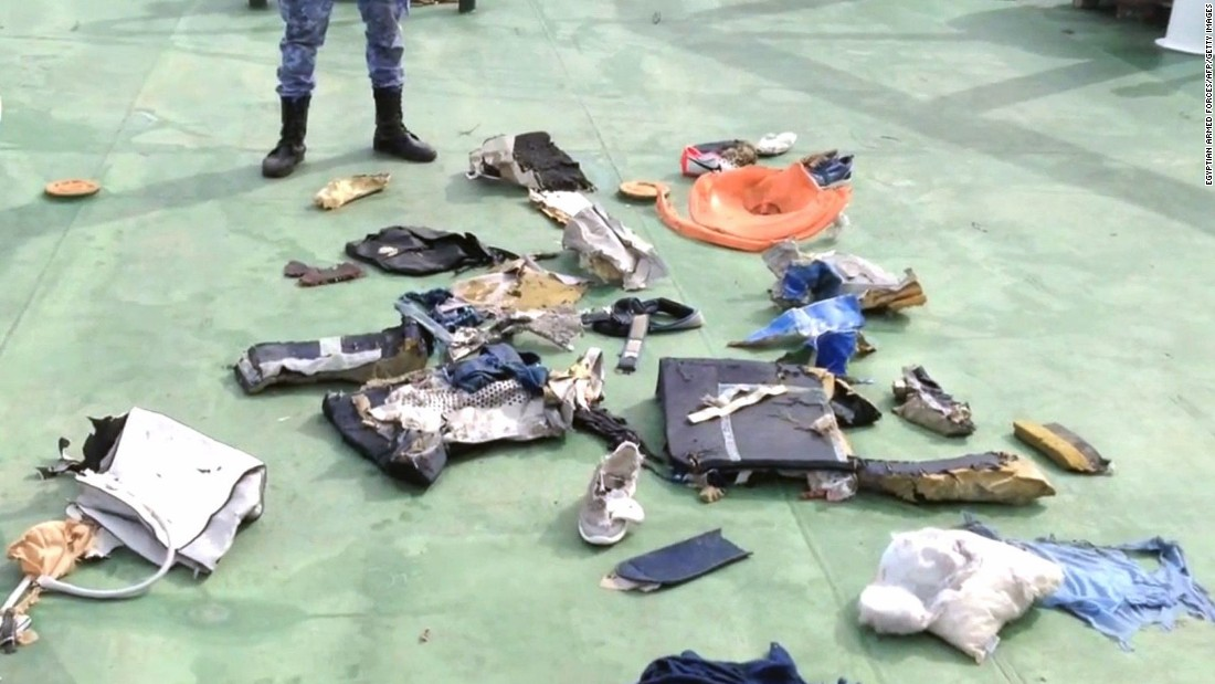 "Egyptian armed forces release video and images of debris, including personal belongings, believed to be from EgyptAir Flight 804 on Saturday, May 21. The <a href=""http://www.cnn.com/2016/05/21/middleeast/egyptair-flight-804-main/index.html"">Airbus A320 vanished</a> from radar over the Mediterranean Sea while en route from Paris to Cairo on Thursday, May 19, with 66 people aboard."