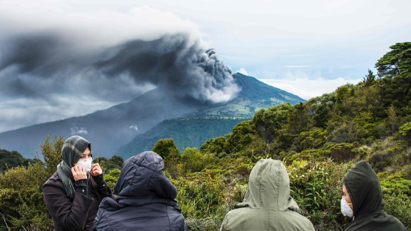 The Turrialba volcano spews smoke and ash in May 2016 in Cartago, Costa Rica. Experts say it is the strongest eruption from the volcano in the past six years.