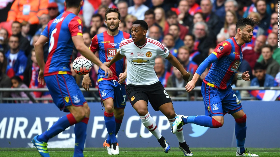 United was looking to claim a first FA Cup since 2004 while Palace had never won the prize in its 110-year history.