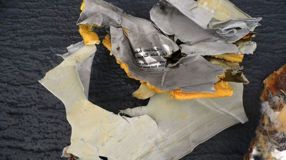 Debris from EgyptAir flight 804.