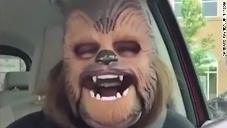 chewbacca mask lady viral video newday_00003415