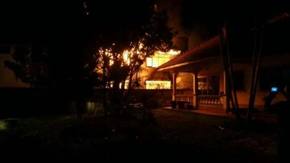 The blaze started at about 11 p.m. local time Sunday night while the girls were sleeping.