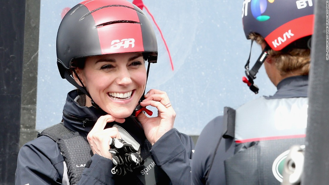 Kate Middleton has given her backing to British Olympic sailor Ben Ainslie's America's Cup bid. <br />