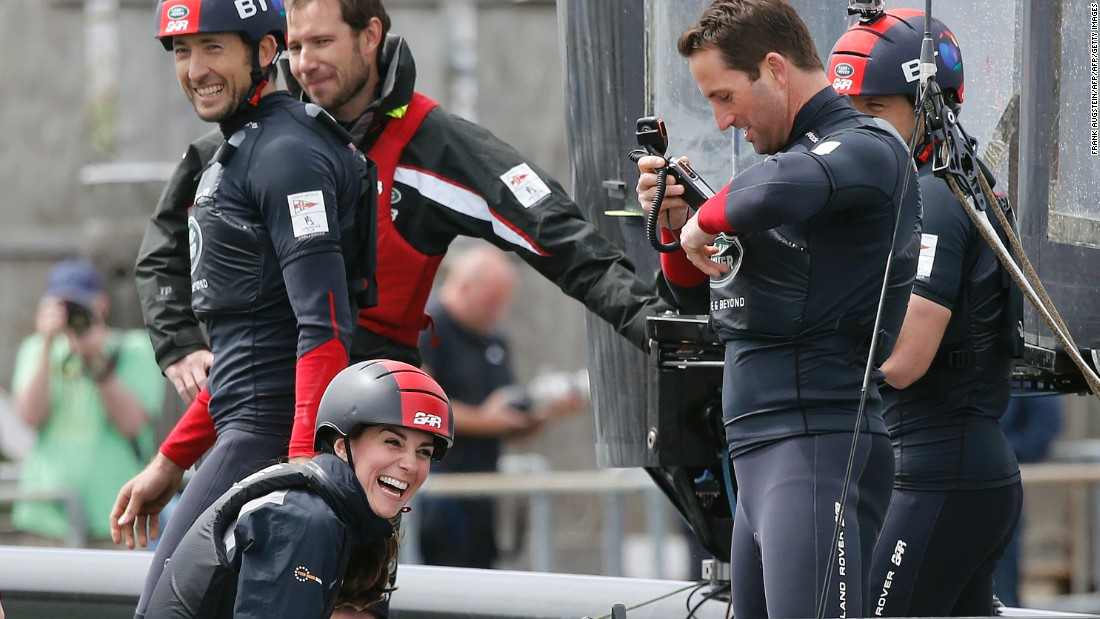 Ainslie was testing the yacht ahead of the Louis Vuitton America's Cup World Series in Portsmouth, in late July. The two-day racing event is a build-up for next year's America's Cup Challenger series<br />