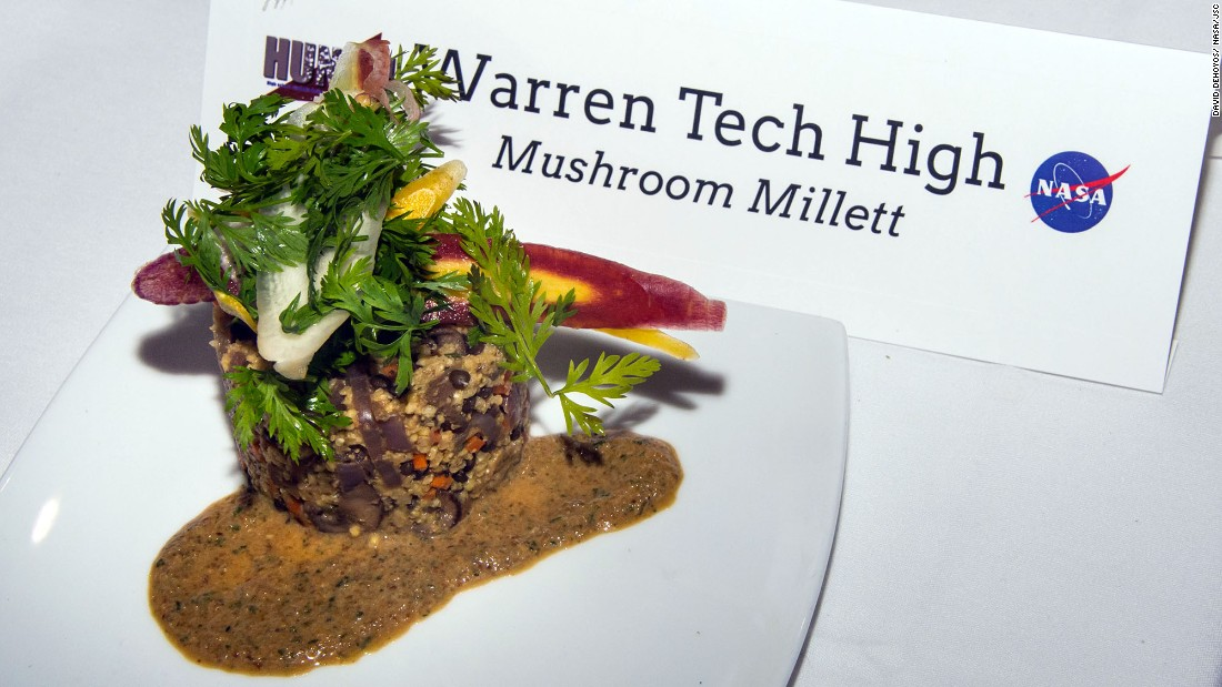 The team at Warren Tech High made a mushroom millet.