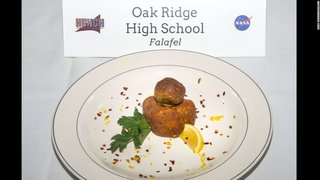 Oak Ridge High School's dish is falafel.