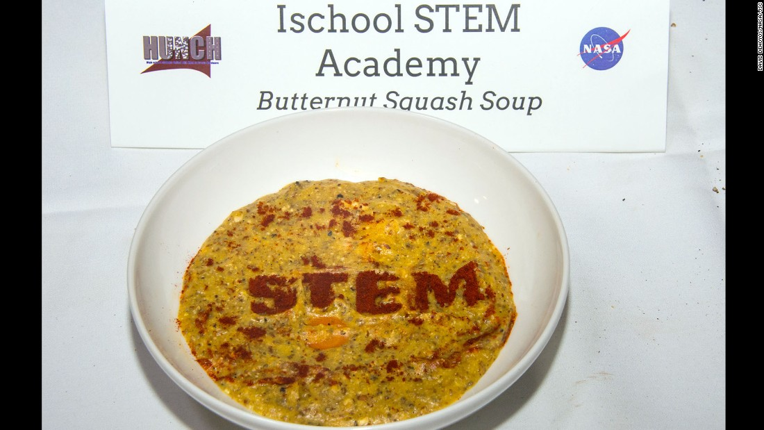 The Ischool STEM Academy team made butternut squash soup.