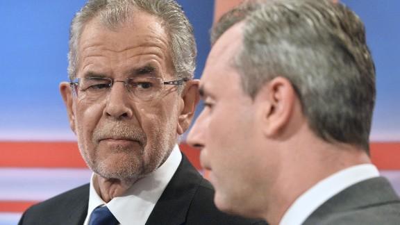 Austrian President Alexander Van der Bellen (L) and candidate Norbert Hofer will face off again in a redo of the nationwide presidential poll.