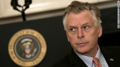 Virginia Gov. Terry McAuliffe (D-VA) waits for U.S. President Barack Obama to address members of the National Governors Association at the White House February 23, 2015 in Washington, DC.