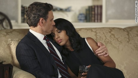 "Tony Goldwyn and Kerry Washington star in the hit ABC series ""Scandal."""