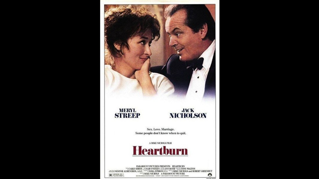 "<strong>""Heartburn""</strong>: Meryl Streep and Jack Nicholson star in this film based on Nora Ephron's semi-biographical novel of the same name. <strong>(Amazon Prime, Hulu) </strong>"