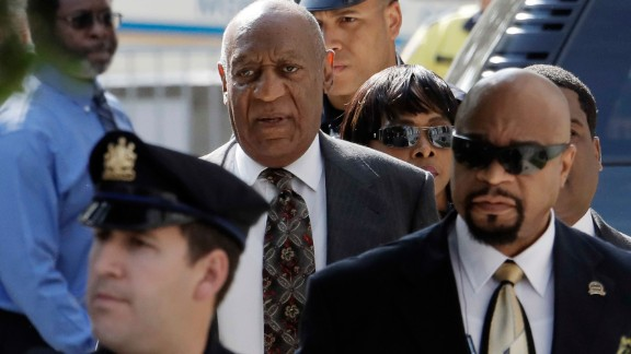 Bill Cosby arrives at the Montgomery County Courthouse in Norristown, Pennsylvania.