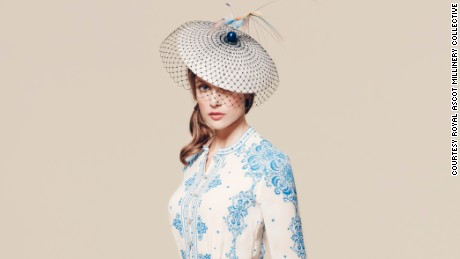 Hat by Harvy Santos, £620 ($905), available at Fenwicks.