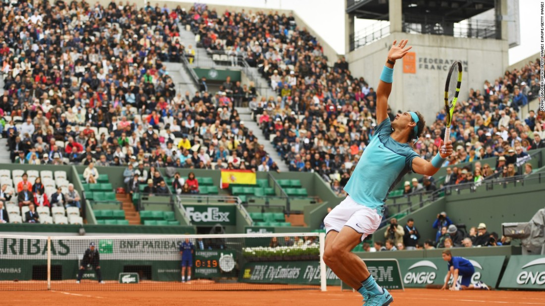 Nadal, the nine-time French Open champion, crushed Australian Sam Groth in 82 minutes.
