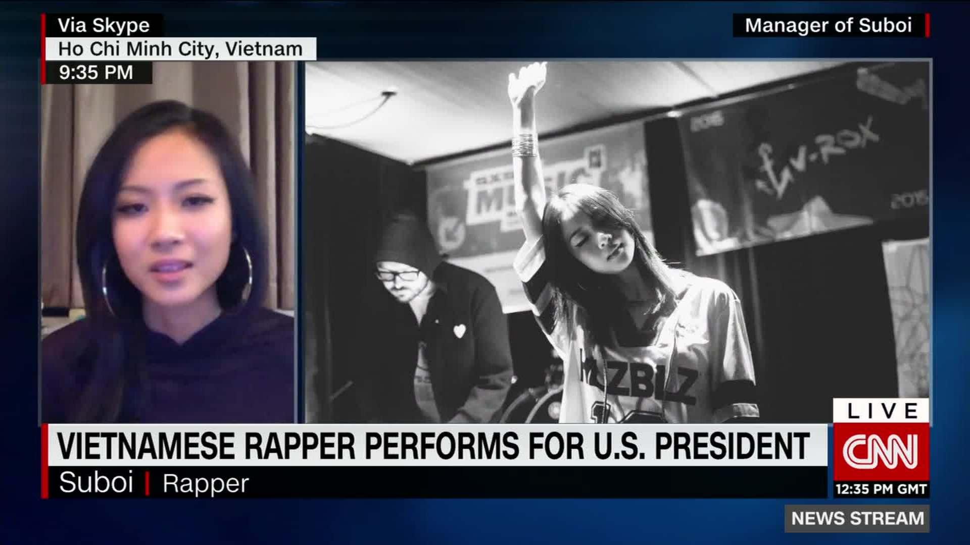 Vietnamese rap artist performs for President Obama - CNN Video